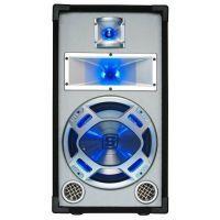 """2e keus - SkyTec PA DJ Luidspreker wit 10"""" 400W met LED Disco verlichting"""