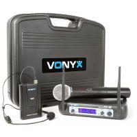 2e keus - Vonyx WM512C Draadloze microfoon VHF - Dubbel
