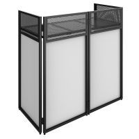 Vonyx DB4 Pro opvouwbare DJ Booth met witte en zwarte lycra doeken