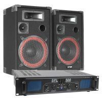 MAX 500W DJ PA Luidspreker en Versterker combinatie