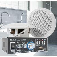 """SkyTronic BS05 Waterdichte luidsprekers badkamer 5"""" met versterker"""