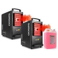 BeamZ S2500 Verticale Rookmachines met LED 2x + 5 liter CO2 rookvloeistof