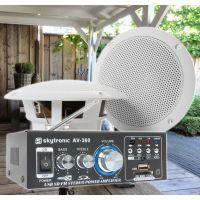 "SkyTronic TS05 Waterbestendige buiten speakers 5"" met versterker"