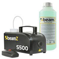 BeamZ S500 kunststof rookmachine met 1 liter extra vloeistof