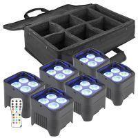 BeamZ Uplight pakket met 6 BBP94 accu Uplights