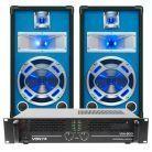 SkyTec DJ Set LED10 800W PA Versterker met Disco Luidsprekers MKII