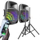 Fenton FT1200A 500W Bluetooth geluidsinstallatie met standaards