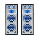 SkyTec Set van 2 Witte PA luidspreker 2x8