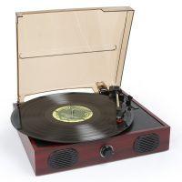 Fenton RP105 platenspeler in hout design met stereo speakers