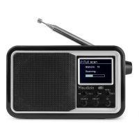 Audizio Anzio draagbare DAB radio met Bluetooth, FM radio en accu - Zwart