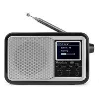 Audizio Anzio draagbare DAB radio met Bluetooth, FM radio en accu - Zilver