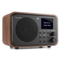 Audizio Milan draagbare DAB radio met Bluetooth, FM radio en accu - Hout