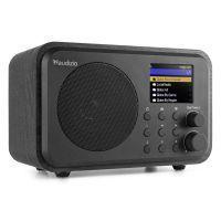 Audizio Venice wifi internet radio, Bluetooth speaker en wekkerradio op accu - Zwart