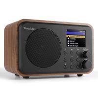 Audizio Venice wifi internet radio, Bluetooth speaker en wekkerradio op accu - Hout