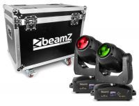 2e keus - BeamZ Set van 2 IGNITE180B LED Moving Heads in flightcase