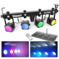 BeamZ Professional LED Astro PARBAR met 4x 9W COB LEDs + 4x 1W strobo
