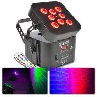 BeamZ Wi-Par 8x 3W LED Tri Color Accu 2.4GHz DMX