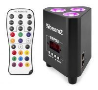 BeamZ BBP93 accu Uplight 3x 10W met afstandsbediening