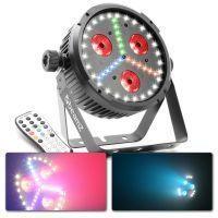2e keus - BeamZ BX30 LED PAR, blacklight en stroboscoop in één behuizing