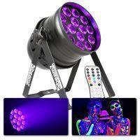 BeamZ BPP230 LED UV Blacklight PAR 64 met remote en DMX