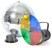Discoset lichteffect met 30 cm spiegelbol