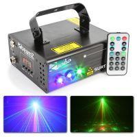 BeamZ Surtur II Dubbele Laser rood groen met Gobo en blauw LED effect
