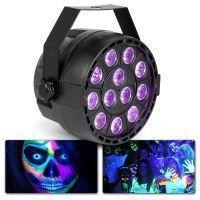 MAX Blacklight PartyPar met 12x 1W UV LED's en DMX