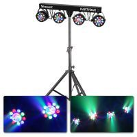 BeamZ Partybar3 lichtset - 4 PAR spots, 4 Magic Balls + stand