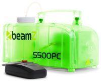 BeamZ S500PC transparante kunststof rookmachine 500 watt met lichteffect