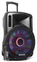 "Fenton FT15LED karaoke speaker 800W 15"" met LED verlichting"