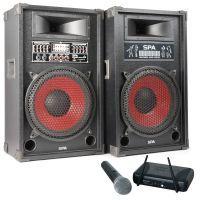 SkyTec 1200W geluidsbox SPA-1200 met draadloze microfoon