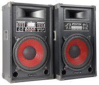 """Fenton SPA1200 Actieve PA Karaoke Luidspreker Set 12"""" 1200W met USB MP3"""