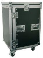 """Power Dynamics PD-F16U8 19"""" Flightcase Rack met zwenkwielen 16HE + 8HE"""