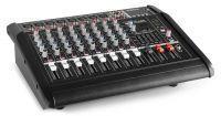 Vonyx AM8A 8-kanaals muziekmixer met ingebouwde 1000W versterker
