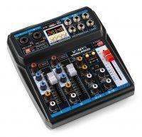 Vonyx VMM-P500 mixer 4-kanaals met Bluetooth, DSP en mp3 speler
