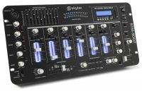 SkyTec STM-3007 19 inch DJ Mixer 6 Kanaals SD/USB/MP3/LED/Bluetooth