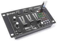 SkyTec STM-3020 4-Kanaals mengpaneel met USB MP3 - Zwart