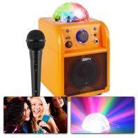 Vonyx SBS50L Karaokeset met microfoon, Bluetooth en lichteffect