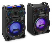 Fenton VS10 Actieve 800W speakerset met LED Disco verlichting, Bluetooth, etc.