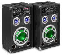 Fenton KA-08 actieve karaoke speakerset 600W met Bluetooth en LED's