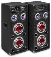 Fenton KA-26 actieve karaoke speakerset 800W met Bluetooth en LED's