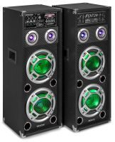 Fenton KA-28 actieve karaoke speakerset 1200W met Bluetooth en LED's