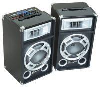 "SkyTec SPD-10 Set Actieve PA luidspreker boxen 10"" - 2 x 400W - USB MP3"