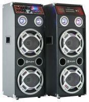 SkyTec SPLED800 Actieve PA Luidspreker Set 2 x 800W met USB MP3
