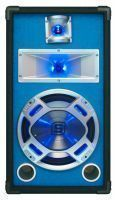 "SkyTec PA DJ Luidspreker blauw 10"" 400W met LED Disco Verlichting"