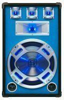 "SkyTec PA DJ Luidspreker blauw 15"" 800W met LED Disco Verlichting"