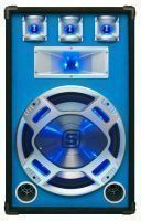 "2e keus - SkyTec PA DJ Luidspreker blauw 15"" 800W met LED Disco Verlichting"