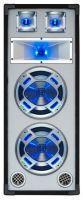 """2e keus - SkyTec PA DJ Luidspreker wit 2 x 8"""" 600W met LED Disco Verlichting"""