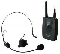 VHF Bodypack Zender met daspeld- en hoofdband microfoon 201.4MHz