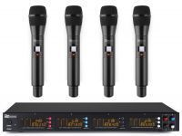 Power Dynamics PD504H draadloos microfoonsysteem met 4 microfoons